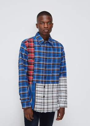 Off-White Check Reconstructed Shirt