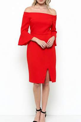 Esley Collection Off Shoulder Dress