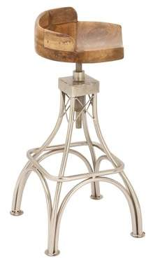 DecMode Decmode 32 Inch Modern Four-Pronged Mango Wood And Iron Stool