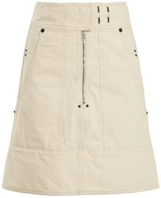 Isabel Marant Natalia A-line cotton-canvas skirt