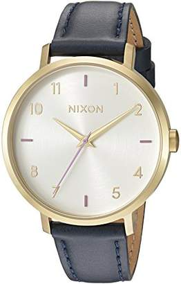 Nixon Women's 'Arrow' Quartz Metal and Leather Watch
