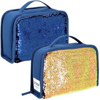 Smash Wear Peacock Reversible Sequin Lunch Bag