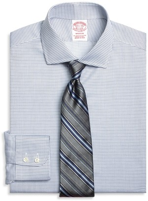 Brooks Brothers Madison Classic-Fit Dress Shirt, Textured Micro Check