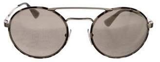 Prada Round Mirrored Sunglasses
