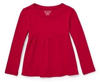 Children's Place The Long Sleeve Peplum T-Shirt (Toddler Girls)