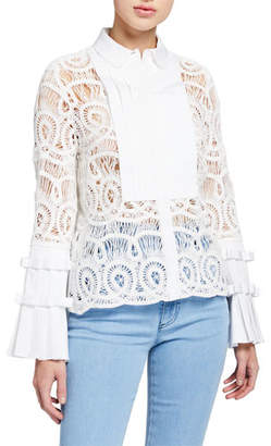 Alexis Allessio Crochet Top with Belt