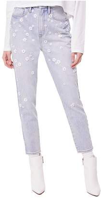 Juicy Couture Floral Embellished Denim Girlfriend Jean