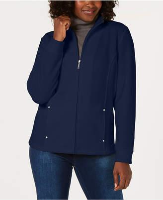 Karen Scott Petite Casual Zip-Front Jacket
