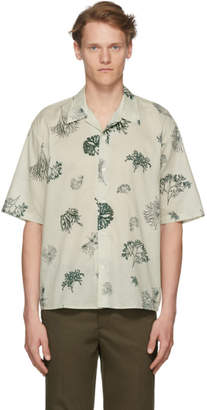 Norse Projects Off-White and Green Carsten Print Shirt
