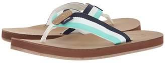 Vineyard Vines Leather Grosgrain Flip-Flops Men's Sandals