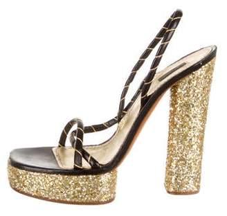 Marc Jacobs Leather Platform Sandals