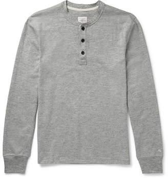 Rag & Bone Slim-Fit Melange Cotton-Blend Jersey Henley T-Shirt - Gray
