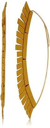 Panacea Women's Large Marquise Hoop Earrings