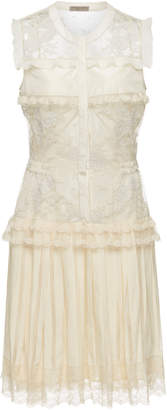 Bottega Veneta Lace Frill Dress