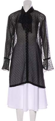 Theory Fil-Coupé Semi-Sheer Tunic