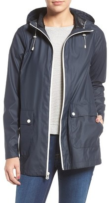 Women's Cole Haan Hooded Rain Jacket $140 thestylecure.com
