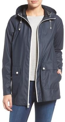 Women's Cole Haan Hooded Rain Jacket $140 thestylecure.com