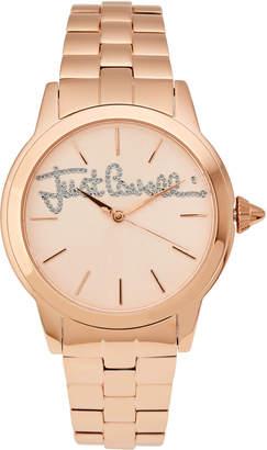 Just Cavalli JC1L006M0105 Logo Mohair Rose Gold-Tone Watch