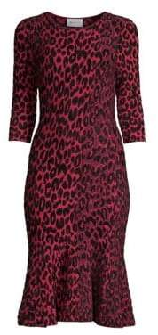 Milly Textured Leopard Mermaid Dress