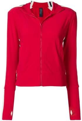 Norma Kamali side stripe zip jacket