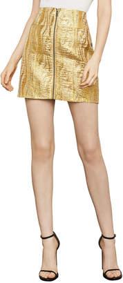 BCBGMAXAZRIA Metallic Mini Pencil Skirt