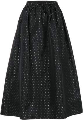 Emporio Armani dot mid-length skirt