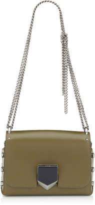 Jimmy Choo LOCKETT PETITE Olive Spazzolato Shoulder Bag