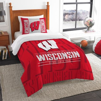 NCAA Wisconsin Badgers Modern Take Twin Comforter Set by Northwest