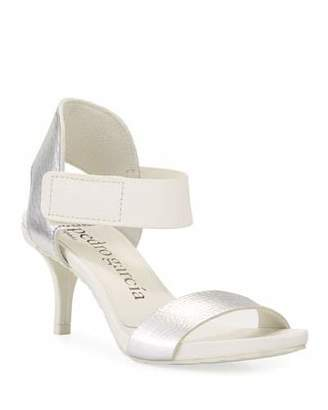 Pedro Garcia Wendelin Leather Low-Heel Sandal