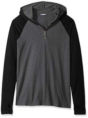 ROBUST Men's Full Sleeve Raglan Hooded Zipper T-Shirt with Thumbhole (Size-)