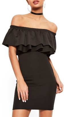 Women's Missguided Bardot Ruffle Bodice Dress $62 thestylecure.com