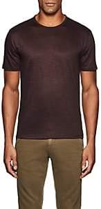 John Varvatos Men's Linen Jersey Crewneck T-Shirt - Wine
