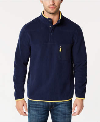 Club Room Men's Fleece Mock-Collar