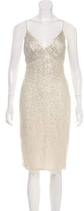 Carmen Marc Valvo Sequin Sleeveless Dress