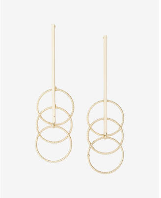 Express Triple Circle Drop Earrings $19.90 thestylecure.com