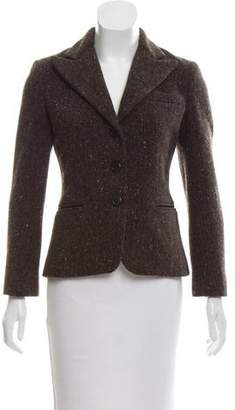 Ralph Lauren Wool Peak-Lapel Blazer