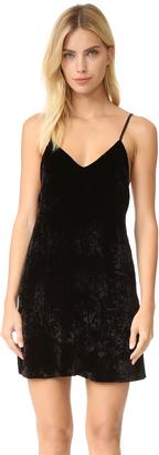 alice + olivia Kera Velvet Slip Dress $295 thestylecure.com