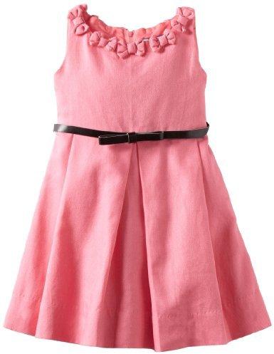 Hartstrings Girls 2-6X Toddler Heavy Sleeveless Dress