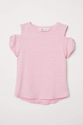 H&M Open-shoulder Top - Pink