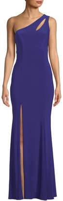 Xscape Evenings One-Shoulder Cut-Out Gown