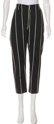 Brunello Cucinelli Striped Cropped Pants Black Striped Cropped Pants