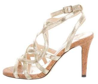 Jimmy Choo Metallic Caged Sandals
