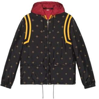 Gucci Bee star jacquard nylon jacket