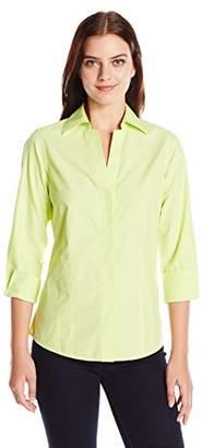 Foxcroft Women's 3/4 Sleeve Taylor Essential Non Iron Shirt