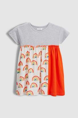 Next Girls Red/Grey Rainbow Dress (3mths-7yrs)