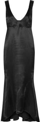 Beaufille - Nodus Satin Maxi Dress - Black