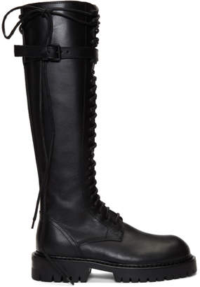 Ann Demeulemeester SSENSE Exclusive Black Lace-Up Boots