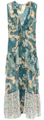 Anna Sui Tiered Fil Coupe Silk-chiffon Vest
