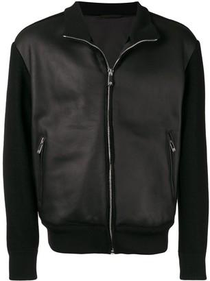 Giorgio Armani leather bomber jacket