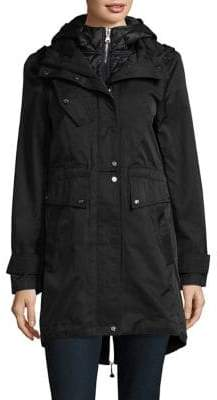 Vince Camuto Snap-Front Longline Anorak